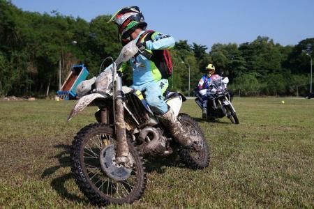 Training to handle big bikes, harsh terrain