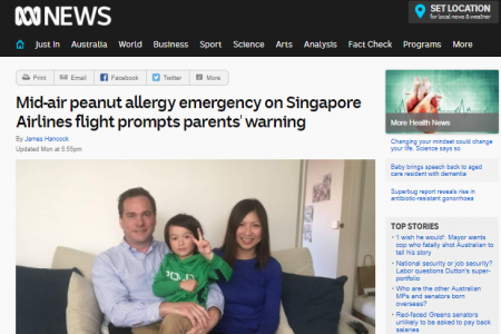 Singapore Airlines to review serving of nuts in flights after toddler's allergic reaction