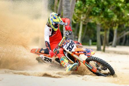 Sun, sand and see dirt fly: Motocross comes to Sentosa