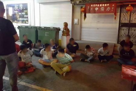 During the three-day raid that ended on Friday (July 21), 44 men aged between 17 and 65 were arrested for promoting public gaming and gaming in public