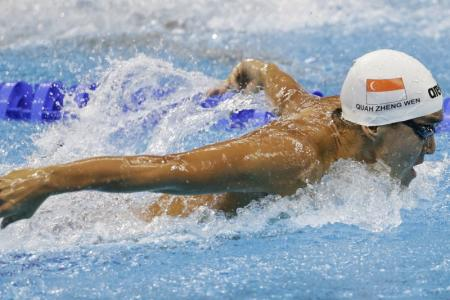Quah fails to progress to 200m fly s-finals at Worlds