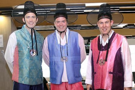 The Three 'Korean Amigos'