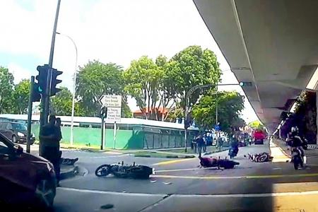 Bus driver suspended after ramming bikers