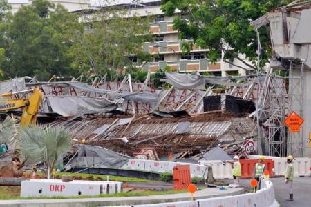 Manpower Minister: Collapse of viaduct section due to 'human lapse'