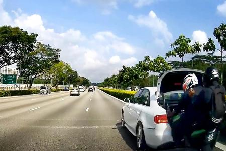 Motorcyclist and passenger severely injured in SLE crash