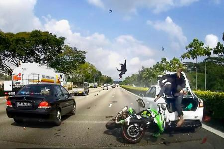 Parents of injured pillion rider do not 'dare to watch' video