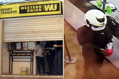 Robber at large in $2,000 heist at Western Union branch in Ubi