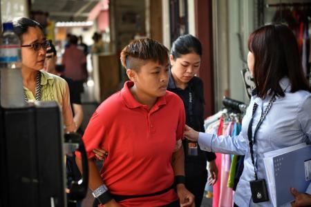 Money-mule suspect taken to alleged crime scenes
