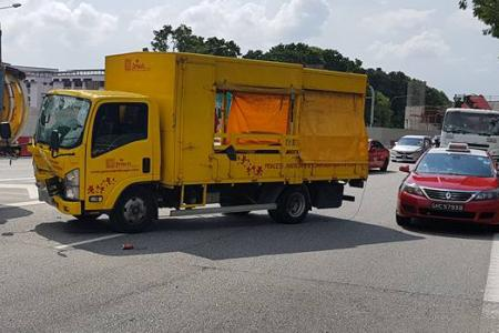 Lorry driver arrested for alleged drink driving after TPE accident