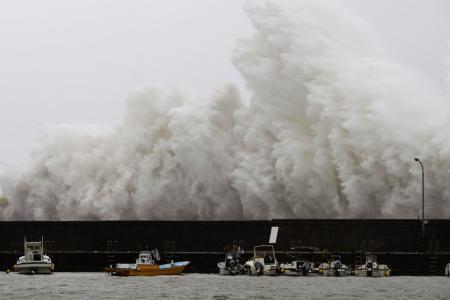 Typhoon Noru hits central Japan