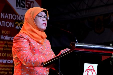 Halimah says she has not always toed official line