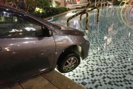 Man missing after driving car into pool