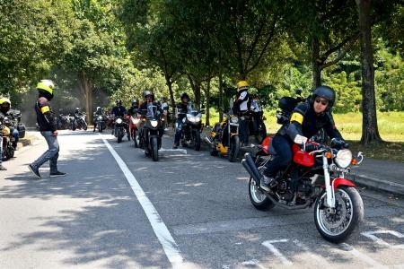 Getting into safety gear for Resurgence ride
