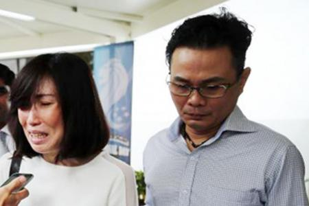 Couple 'sorry', fined for berating, shoving man