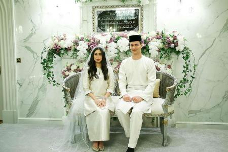 Johor princess weds former Tampines Rovers marketing manager