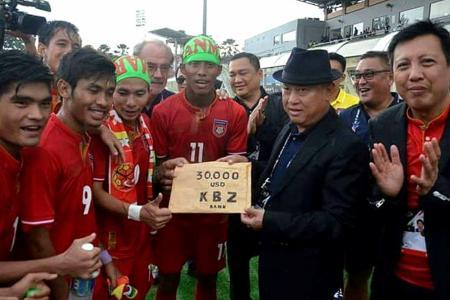 SEA Games football: Myanmar get $68,000 for beating Singapore