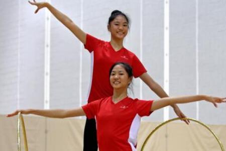 Identical dreams for rhythmic gymnastics twins