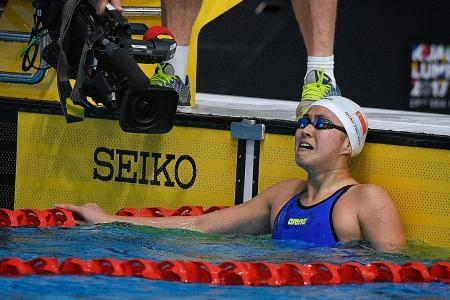 Three golds for swim star