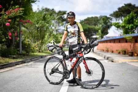 He cycles across Europe in 14 days