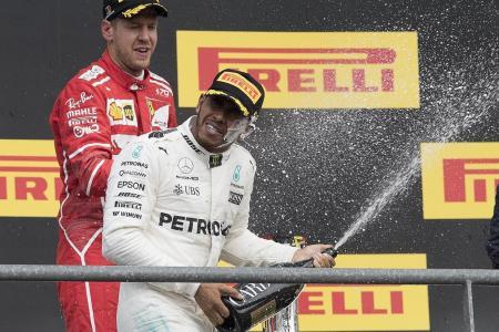 Hamilton reigns in Belgium