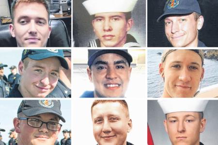 Recovery efforts on USS John McCain