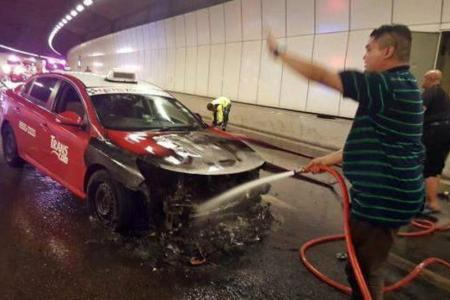 Heroic friends who put out KPE taxi blaze: We thought only of our fellow motorists