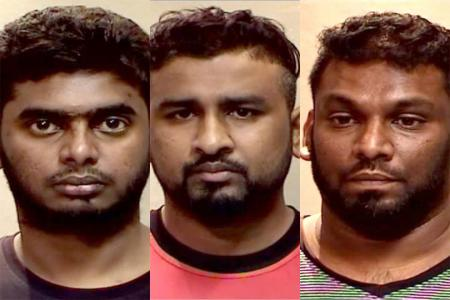 Three jailed for group robbery of over $600,000