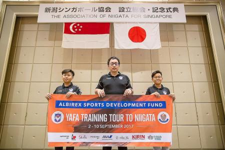 An eye-opener for two young boys in Albirex exchange trip