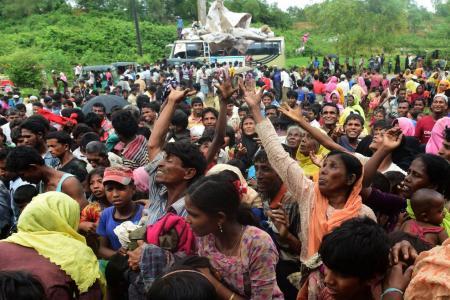 Rohingyas have fled to Bangladesh
