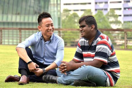 Blind student thrives in poly, thanks to support