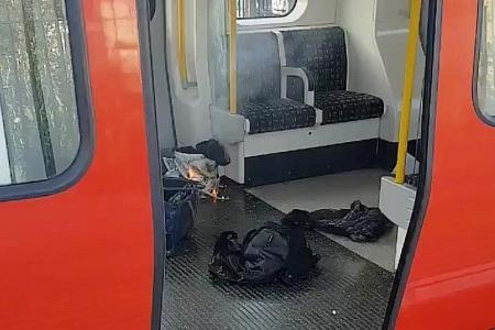 22 hurt in London train bomb attack