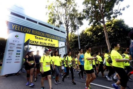 Running to support ex-offenders at Yellow Ribbon Prison Run