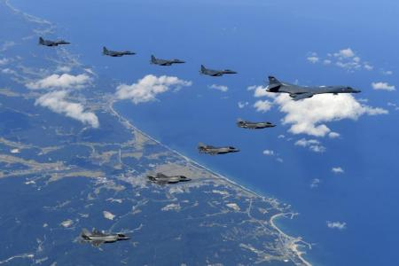 US, South Korea, China and Russia stage military drills near the North