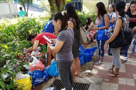 Lucky Plaza shop owners upset over 'illegal hawkers'
