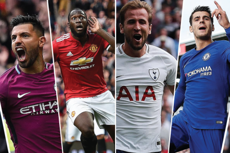 Sergio Aguero, Romelu Lukaku, Harry Kane and Alvaro Morata are all in scintillating form for their clubs.