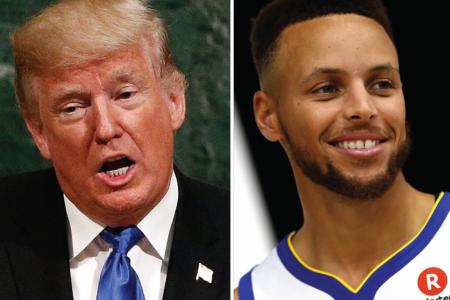 Trump renews spat with US sports stars