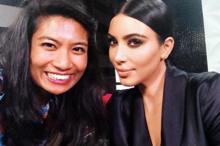 Yes, I got my selfie with Kim Kardashian