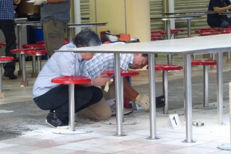 Flaming object thrown into Ang Mo Kio hawker centre