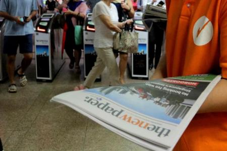 More copies of TNP at MRT stations from today