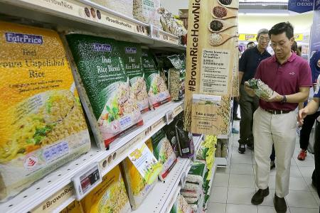 FairPrice walks the walk in brown rice campaign