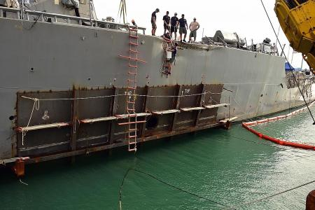 US destroyer on its way to Japan for repairs