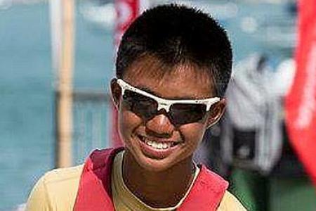 Golden finish for Optimist sailor Daniel