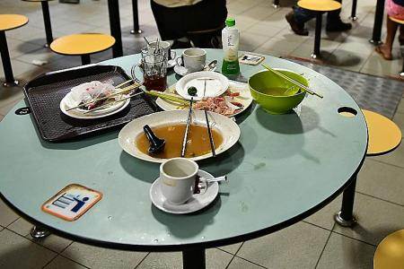 Lack of cleanliness at food centres irks Singaporeans