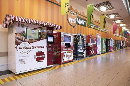 Vending machine clusters at Giant hypermarkets