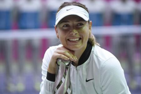 Sharapova wins first title in two years