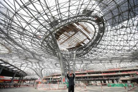 Beijing unveils skeleton of new airport