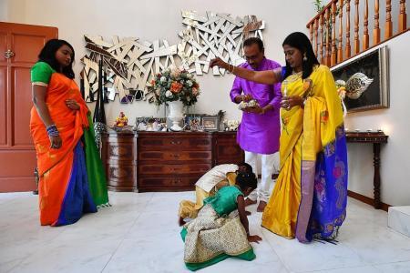 Deepavali blessing, in delightful hues