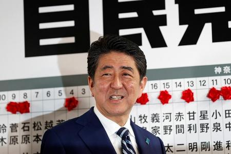 Abe vows to 'deal firmly' with N. Korea
