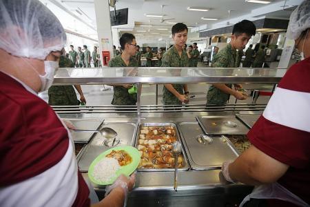 Lower-calorie meals for SAF non-combat servicemen