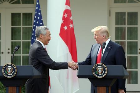 Trump: US-Singapore ties 'have never been stronger'
